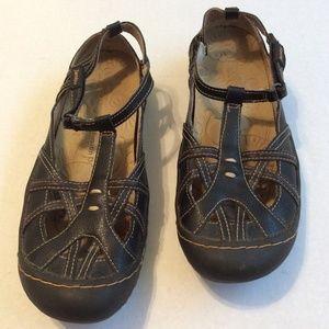 Jambu Mary Janes All Terra Dune Black Leather 7.5
